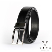 【VOVA】紳士方頭波浪穿針式可旋轉樹羔紋皮帶(鎗色) VA003-004-GU
