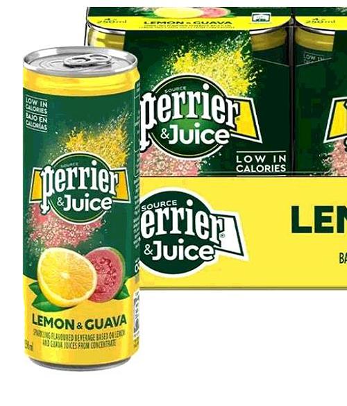 [COSCO代購] W344057 Perrier 沛綠雅 氣泡綜合果汁 檸檬芭樂口味 250毫升 X 24入