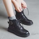馬丁靴帥氣機車馬丁靴女平底秋季新款韓版百搭學院風英倫短靴潮新年禮物