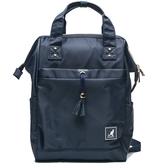 KANGOL 海軍藍 後背包 可放水瓶  多夾層 後背包 素色  (布魯克林) 6955320680