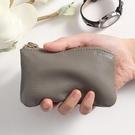真皮零錢包女小迷你牛皮短款雙拉鍊鑰匙簡約小錢包硬幣小巧零錢袋 寶貝計畫 618狂歡