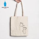 【美國Blue Bottle】100%有機棉隨身手提肩背袋-加長款
