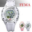 【僾瑪精品】FEMA 菲瑪 卡通造型 小綿羊 鬧鈴夜光 數位兒童錶(淡紫-34mm) P328