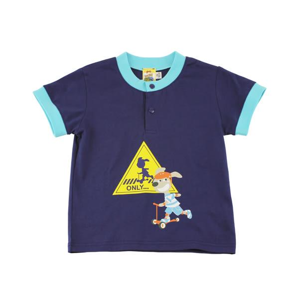 【愛的世界】純棉圓領前釦撞色短袖上衣/2~4歲-台灣製- ★春夏上著