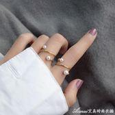 14K包金設計感貝珠開口戒指指環可水洗chic戒指艾美時尚衣櫥