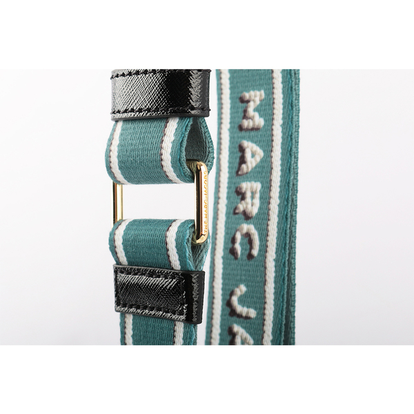【MARC JACOBS】snapshot相機包背帶-糖霜字體LOGO(薄荷藍/金釦) M0016597 332