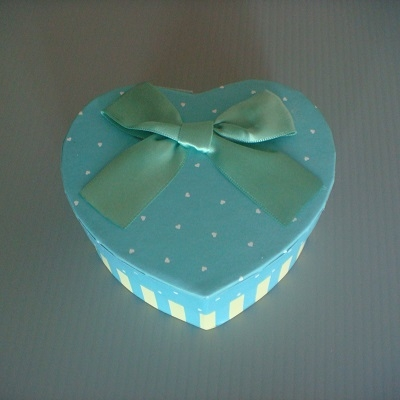 心型小禮物盒(土耳其藍色)/飾品盒