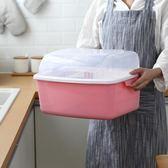 廚房碗柜帶蓋碗碟架放碗架收納盒瀝水架裝碗筷收納箱置物架瀝水籃WY【七夕節88折】