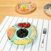 ✭米菈生活館✭【N292】五格零食水果盤 家用 客廳 零食 小盤子 圓形 分割 零食盤 料理 廚房