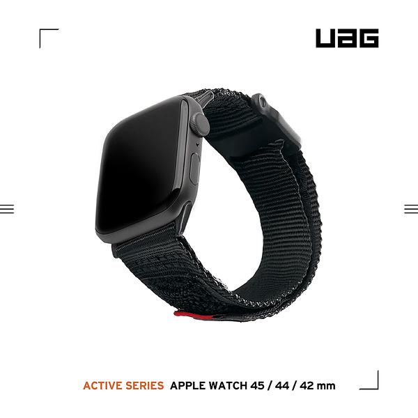 UAG Apple Watch 42/44/45mm 時尚尼龍錶帶-黑
