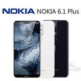NOKIA 6.1 Plus 5.8吋 4G/64G 19:9 無邊際全螢幕-藍/白[24期0利率]
