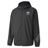 PUMA 基本系列 黑色男款圖樣風衣外套-NO.58211501
