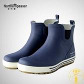 短筒雨鞋男防滑防水鞋水靴橡膠鞋釣魚鞋雨靴時尚【雲木雜貨】
