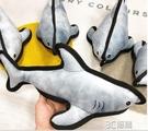 寵物發聲玩具雪納瑞巴哥法斗金毛大型犬幼犬玩具磨牙潔齒鯊魚玩具 3C優購