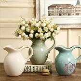 陶瓷花瓶擺件輕奢北歐插花水培花器客廳家居裝飾【櫻田川島】
