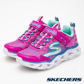 Skechers GALAXY LIGHTS粉色星星造型黏帶發光鞋 中童 10920LNPMT【Speedkobe】