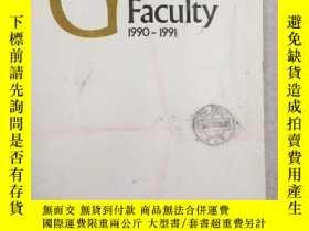 二手書博民逛書店the罕見craduate faculty 1990-1991Y
