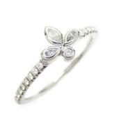 Tiffany & Co 蒂芬妮 Fleur de Lis系列0.16 克拉鉑金鑲圓形鑽石戒指Ring【BRAND OFF】