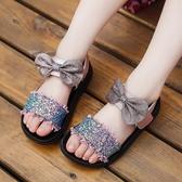 女童涼鞋中大童兒童女孩子軟平底鞋