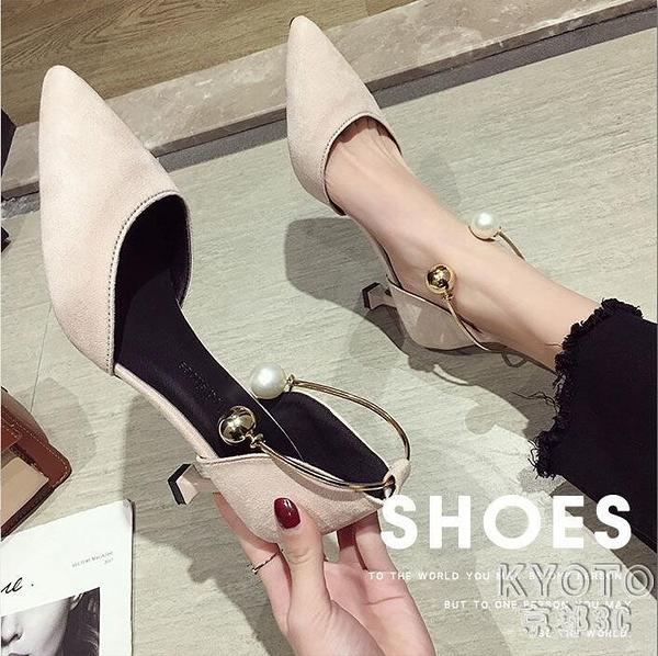 細跟高跟鞋女2021春夏季新款百搭尖頭仙女風少女時尚單鞋 快速出貨