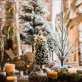 【K款聖誕樹】聖誕樹節日裝潢擺件雪松櫥窗拍攝道具案頭地面耶誕節