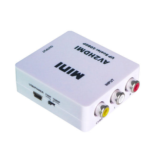 【世明國際】AV轉HDMI轉換器 RCA (紅黃白)轉HDMI (CVBS)轉HDMI 複合音視頻