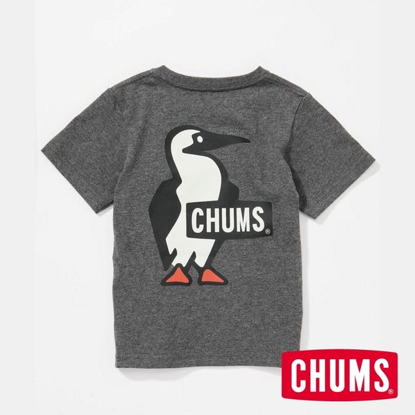 CHUMS 日本 童 Booby LOGO 短袖T恤 炭黑 CH211052G012