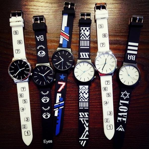 韓國潮男時尚創意個性手錶女學生韓版極簡約情侶一對石英exo潮表 嬌糖小屋