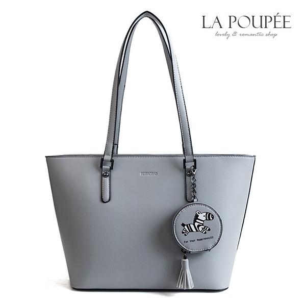 手提包 可愛小斑馬零錢包吊飾托特包 3色-La Poupee樂芙比質感包飾 (現貨+預購)