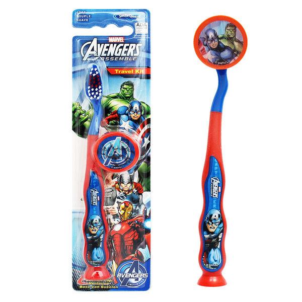 《美國 FIREFLY》AVENGERS單入兒童吸盤牙刷- Captain America(附刷蓋)