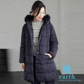 ❖ Hot item ❖ 毛毛連帽中空纖維長版大衣外套 - earth music&ecology
