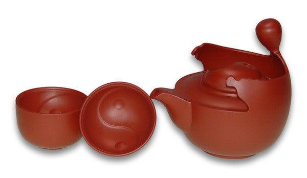 鹿港窯~紫砂意象茶具組【太極茶具組】免運費送到家