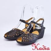 kadia.親膚舒適牛皮涼鞋(9101-90黑色)