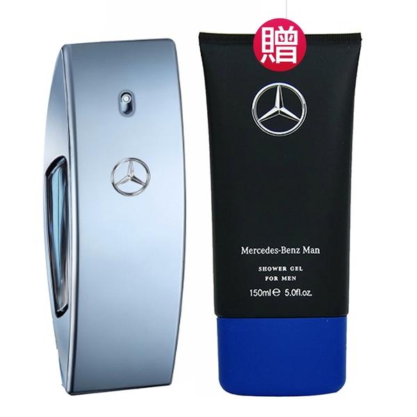 Mercedes Benz 自由藍調男性淡香水100ml(贈)同款沐浴精150ml) Vivo薇朵