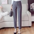 西褲女九分褲春裝新款黑色薄款直筒寬鬆職業工裝管褲子女夏