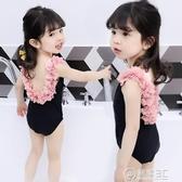 兒童泳衣韓國可愛裙式游泳服1女童2寶寶3嬰兒4連體小童公主 電購3C