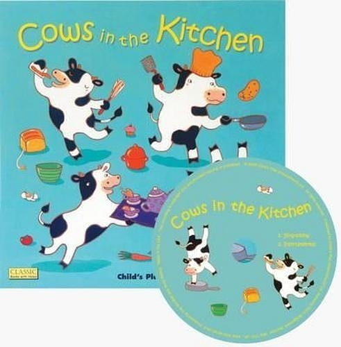 Classic Books With Holes:Cows In The Kitchen (With CD) 動物來你家 童謠洞洞CD故事書