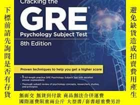 二手書博民逛書店Cracking罕見The Gre Psychology Subject Test, 8th EditionY