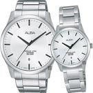 ALBA 雅柏 時尚東京石英對錶/情侶手錶-銀/40+28mm VJ42-X211S+VJ22-X243S(AS9C95X1+AH7M23X1)