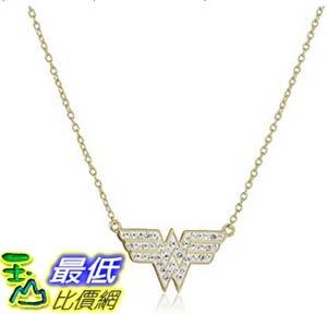 [美國直購] DC Comics 18k Gold Over Silver Wonder Woman Crystal Pendant Necklace, 18 項鍊