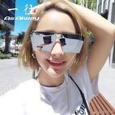 新款偏光太陽鏡女眼睛2019個性方形網紅同款墨鏡男士開車潮人眼鏡