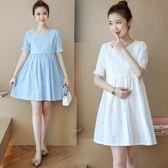 洋裝夏季產后外出哺乳裝韓版短袖純色寬鬆腰帶顯瘦拉鏈喂奶連衣裙推薦