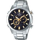 【台南 時代鐘錶 CASIO】EDIFICE 宏崑公司貨 EQW-T640YD-1A9 太陽能電波 賽車風格運動腕錶