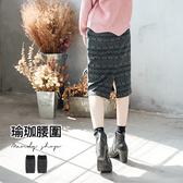 【MN0100】獨家款.花朵/圖騰挺版窄裙.瑜珈腰圍