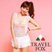 【TRAVEL FOX夏之戀】運動風大女外搭罩衫-C14703白