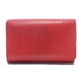 LOEWE 紅色牛皮扣式中夾 零錢包 101.79G96 【二手名牌 BRAND OFF】