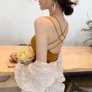 夏季露背吊帶上衣女外穿打底衫【時尚大衣櫥】