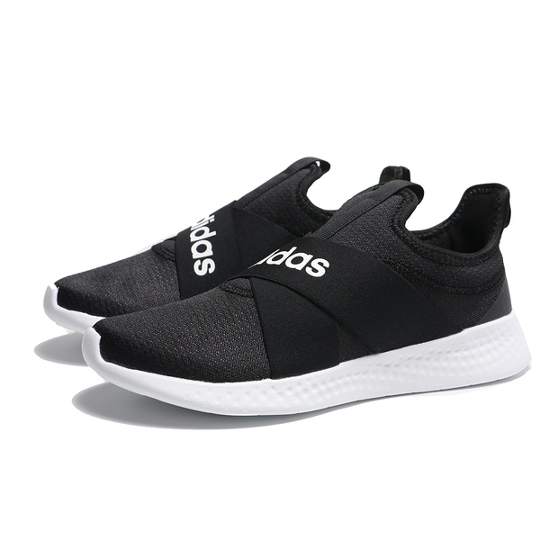 ADIDAS 休閒鞋 PUREMOTION ADAPT 黑白 繃帶 襪套 運動 女 (布魯克林) FX7326