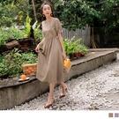 《DA8476》浪漫柔美氣質典雅蕾絲純色洋裝 OrangeBear
