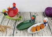 618好康鉅惠 陶瓷卡通動物盤 鴨子盤兒童小盤子創意早餐盤